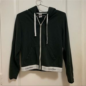 Calvin Klein Womens Zip Up Hoodie Size Small